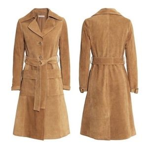 H & M Vegan Suede Trench - 6